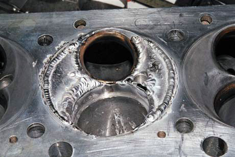 800C.I. Ford Hemi Pro Stock Damaged Aluminum Cyl. Head