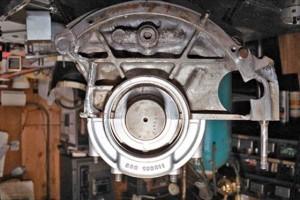 Vintage Ferrari Aluminum Engine Block Damage