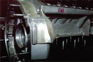 T.I.G. Weld Repaired Vintage Ferrari Aluminum Engine Block