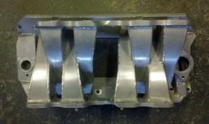 For Sale Big Block Chevy Weber Cross Ram Custom Sheet Metal Intake Manifold.